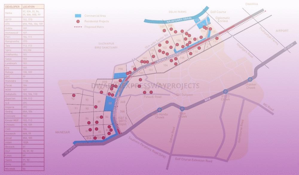 Dwarka Expressway Sector Maps |Gurgaon Northern Peripheral road Map